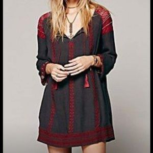 Free People beaded and embroidered mini dress